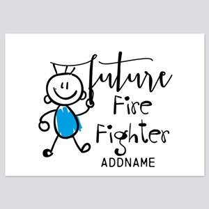 Future Fire Fighter Personalized 5x7 Flat Cards