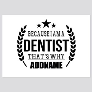 Dentist Gifts Personalized 5x7 Flat Cards