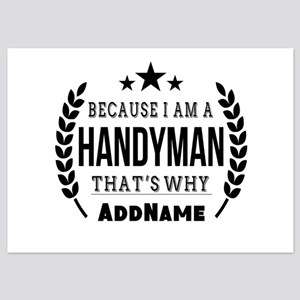 Gifts for Handymen Personalized 5x7 Flat Cards