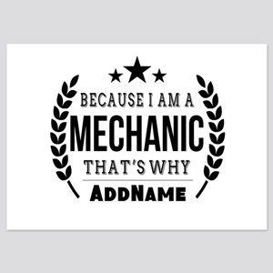 Gifts for Mechanic Personalized 5x7 Flat Cards