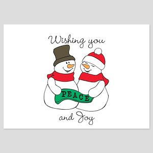 Snowmen Peace and Joy Invitations