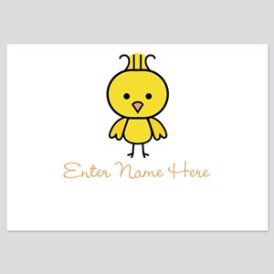 Personalized Baby Chick 5x7 Flat Cards