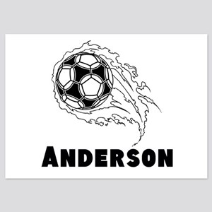 Personalized Soccer 5x7 Flat Cards