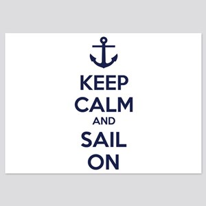 Keep calm and sail on 5x7 Flat Cards