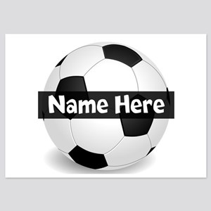 Personalized Soccer Ball 5x7 Flat Invitations