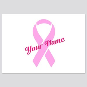Custom Pink Ribbon 5x7 Flat Cards