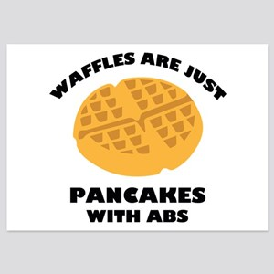 Waffles Are Just Pancakes With Abs 5x7 Flat Cards