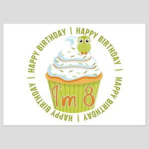8th Birthday Cupcake 5x7 Flat Cards