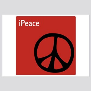 iPeace Symbol Red 5x7 Flat Cards