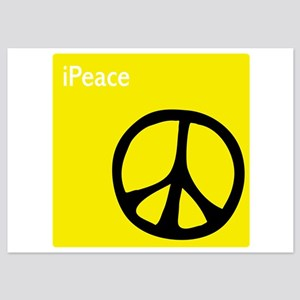 iPeace Symbol Yellow 5x7 Flat Cards