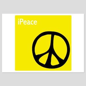 iPeace Symbol Yellow 5x7 Flat Cards