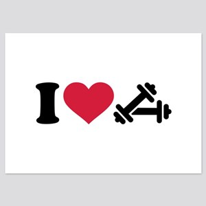I love barbell dumbbell 5x7 Flat Cards