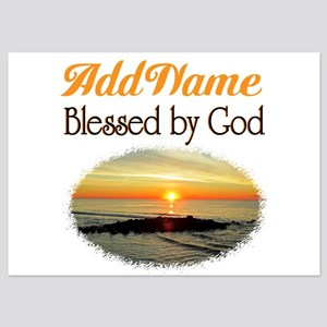 BLESSED BY GOD 5x7 Flat Cards