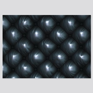 Lounge Leather - Black 5x7 Flat Cards