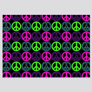 Peace Sign Multi Neon Colors Invitations