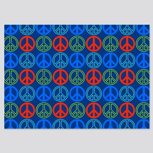 Peace Sign Multi Colors Blue Invitations