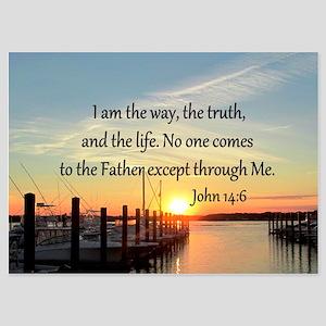 JOHN 14:6 5x7 Flat Cards