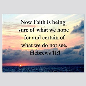HEBREWS 11:1 5x7 Flat Cards