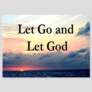 LET GO AND LET GOD 5x7 Flat Cards