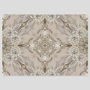 glamorous girly Rhinestone lace pearl Invitations