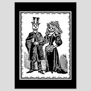 Skeleton Couple 5x7 Flat Invitations