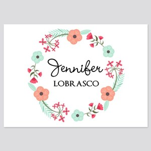 Personalized Floral Wreath Invitations