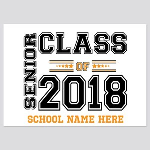 Personalized Senior Class of 2018 Black and Orange