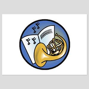 tuba circle design copy 5x7 Flat Cards