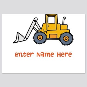Personalized Loader 5x7 Flat Cards