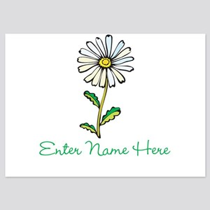 Personalized Daisy 5x7 Flat Cards
