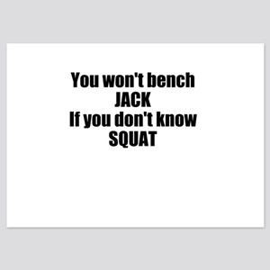You wont bench or squat 5x7 Flat Cards