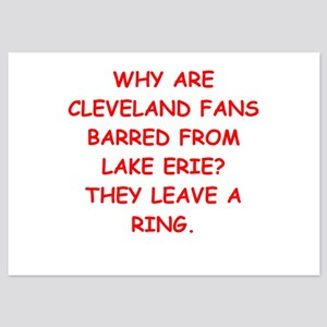 cleveland fans 5x7 Flat Cards