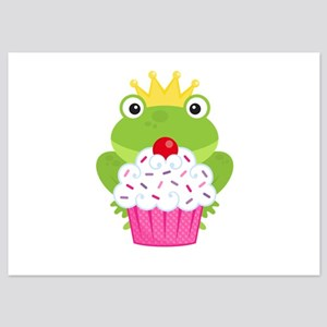 Frog Princess Birthday Cupcake Flat Cards