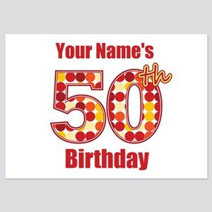 Happy 50th Birthday - Personalized! Flat Cards