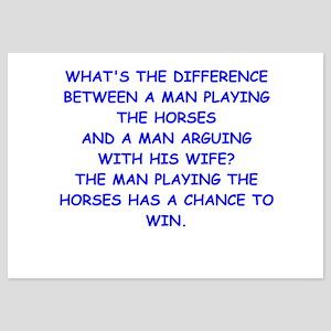 horse racing 5x7 Flat Cards