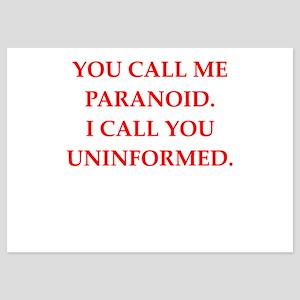 paranoid 5x7 Flat Cards