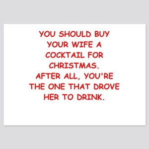cocktail for christmas 5x7 Flat Cards