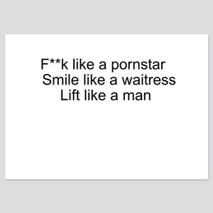 Lift like a man, smile like a waitress Flat Cards