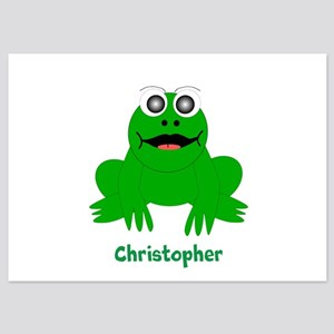 Frog Just Add Name Flat Cards