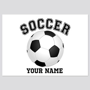 Personalized Name Soccer 5x7 Flat Cards