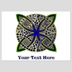 Customize this Symbolic Celtic Knot Doodle 5x7 Fla