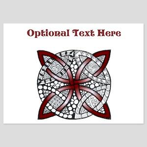 Personalizable Maroon Decorative Celtic Knot Invit