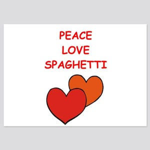 spaghetti 5x7 Flat Cards