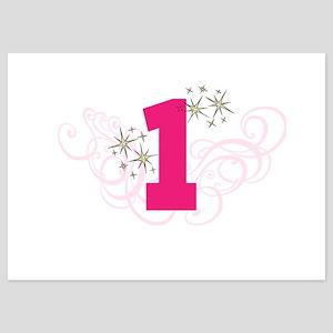 Pink Custom number birthday Invitations