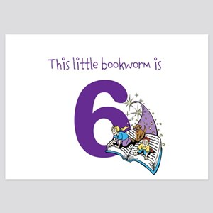 Little Bookworm Custom Age Invitations