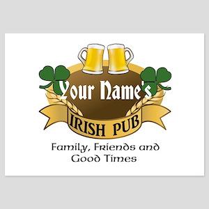 Personalized Name Irish Pub Invitations