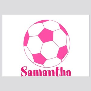 Pink Soccer Ball Invitations