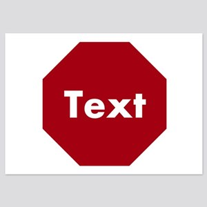 Customize a Stop Sign Invitations