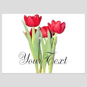 Personalizable Tulips Invitations
