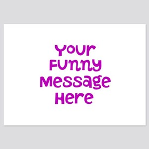 Four Line Dark Pink Message Invitations